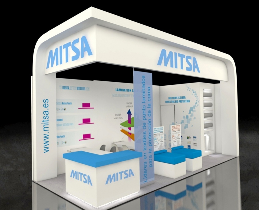 Mitsa - Messebau, Messestand - Techtextil in Frankfurt - Simply Plan