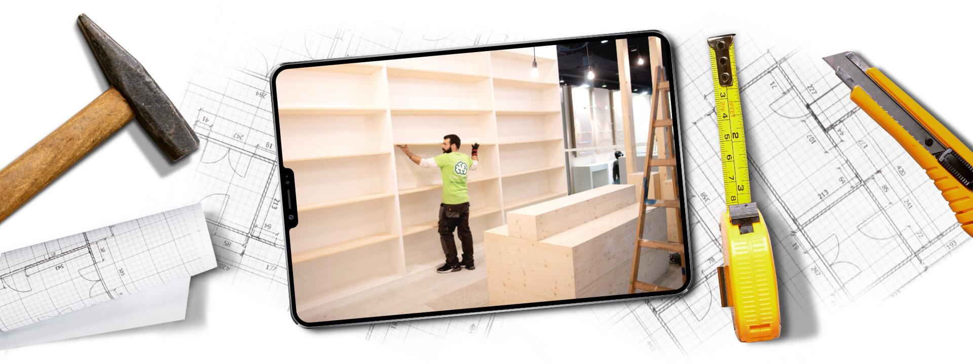 Innenausbau und Ladenbau mit 3D-Raumgestaltung